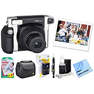 Fujifilm INSTAX Wide 300 Instant Film Camera (FUI300) with 20 Sheets of Instant Film, Bag for Cameras, AA Charger w/ AA Batteries, LCD/Lens Cleaning Pen, Lens Cleaning Kit & Micro Fiber Cloth