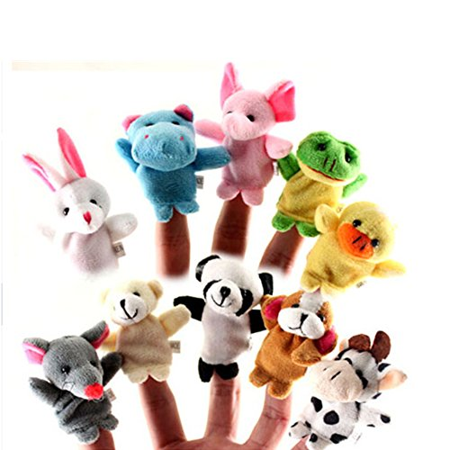 - THE MIMI'S Finger Puppets Different Cartoon Animal Finger Puppets Finger Puppets Set for Kids Cute Velvet Soft Animal Finger Puppets Baby Story Time Finger Puppets for Toddlers(10 Pcs)