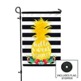 Second East Sweet Summer Pineapple Garden Flag Outdoor Patio Seasonal Holiday Fabric 12''X18''