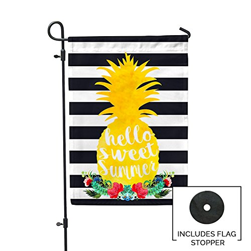 sweet summer pineapple garden flag