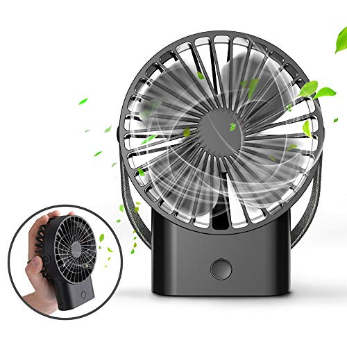 (Mini Handheld Fan - Super Quiet, Up to 10 Hours, Portable Fan, Desk Desktop Table Cooling Fan with USB Rechargeable Electric Fan for Car Office Room Outdoor Household Traveling)