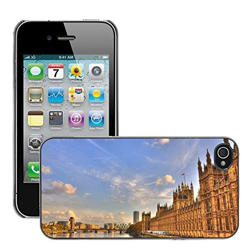 Premio Sottile Slim Cassa Custodia Case Cover Shell // V00001797 Londres // Apple iPhone 4 4S 4G