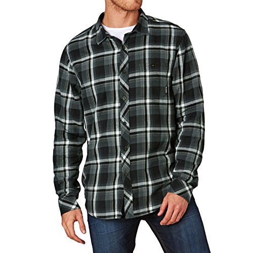 2016 Billabong Vantage Long Sleeve Flannel Shirt ASPHALT Z1SH09
