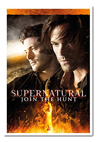 Supernatural Join The Hunt Poster Magnetic Notice Board White Framed - 96.5 x 66 cms (Approx 38 x 26 (Hunt Framed)