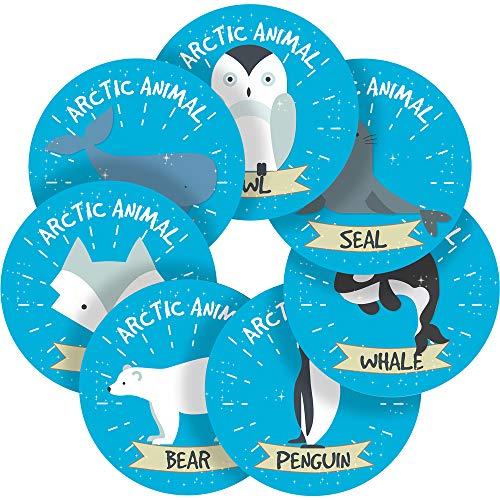 Sweet Arctic Animals Reward Sticker Labels, 70 Stickers @ 1