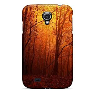 Flexible Tpu Back Case Cover For Galaxy S4 - Orange Forest