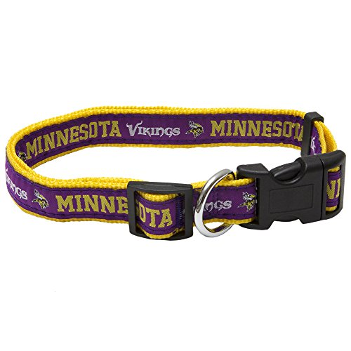 Pets First NFL Minnesota Vikings Pet Collar, Large