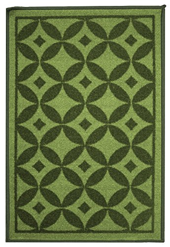 Kashi Home Bordeaux Collection Medallion Styled Decorative Accent Egyptian Area Rug, Green, 5' x 7'
