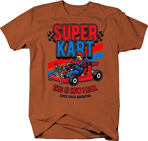 Super Go Kart Video Game Parody Speed Adventure with Mario Tshirt 2XL