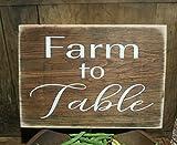 Cheap Farmhouse Kitchen Decor, Farm to Table Wooden Sign, Farmhouse Decor, Rustic Decor, Kitchen Decor, White, Shabby Chic, Primitive, Farm Sign