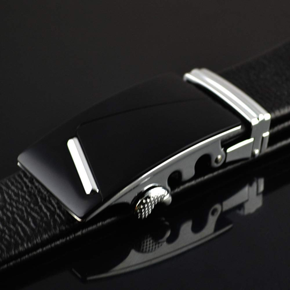 DENGDAI Mens Leather Belt Belt Length 100-135cm