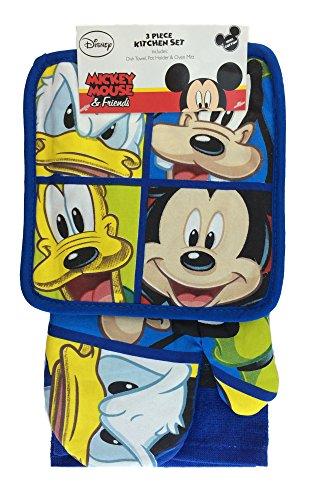 Fab Four Mickey Donald Goofy Pluto Kitchen Towel Set