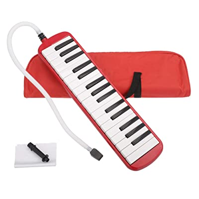 32-Key Melodica Musical Instrument with Blowpip...