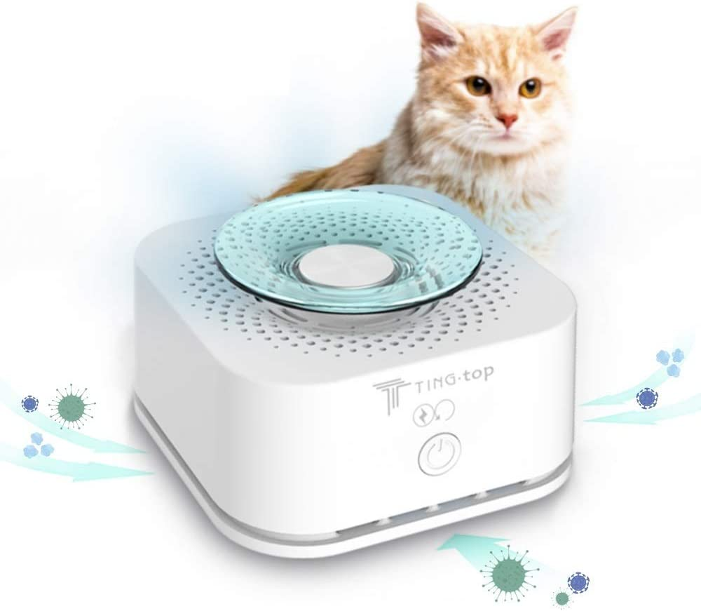 Pet Odor Eliminator Smoke Odor Mini Smoke Eater Room Deodorizer Sleep Mode for House Home Toilet Office Vehicle Cigarette Smell Remover USB Charging Safe and Quite