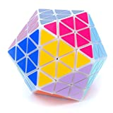 MF8 Oskar's Icosaix White Icosahedron Face Turning Cube Puzzle 20 Sided Toy