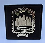 Raleigh Brass Ornament Black Leatherette Gift Box by I Love My State