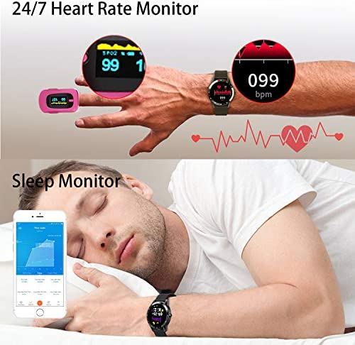 Blackview Smart Watch for Android Phones and iOS Phones, Smart Watches for Men Women, Fitness Tracker Watch with Heart Rate Sleep Monitor, 1.3″ Full Touch Screen, 5ATM Waterproof Pedometer(46mm) 51sWfOZ2HFL