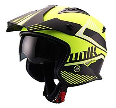 UNIK Ct-07 Montana Print, Trial Helmet with Solar Glasses, Size-Extra Small Casco, Hombre, X