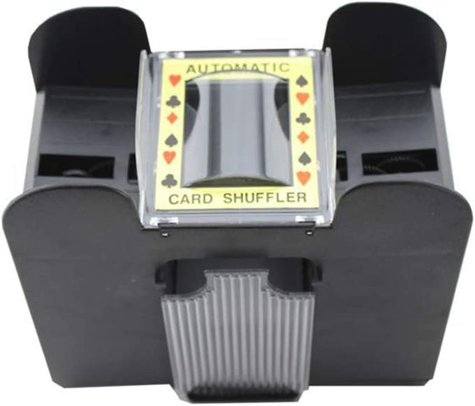 NOENNULL Automatic Card Shuffler Electric 6 Decks Battery Operated Card Mixing Machine