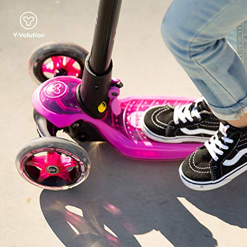 Yvolution Y Glider XL Deluxe 3 Wheel Folding Scooter for Kids Age 5-12 Years with Safety Brake