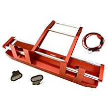 Integy RC Model Hop-ups C27117RED CNC Alloy Front Bumper w/ LED for Tamiya 1/14 King Hauler & Globe Liner