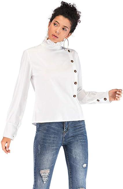 Tensay Camisa de Mujer Botton Camisa de Manga Larga ...