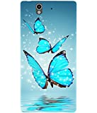 Casotec Flying Butterflies Design Hard Back Case Cover for Sony Xperia Z