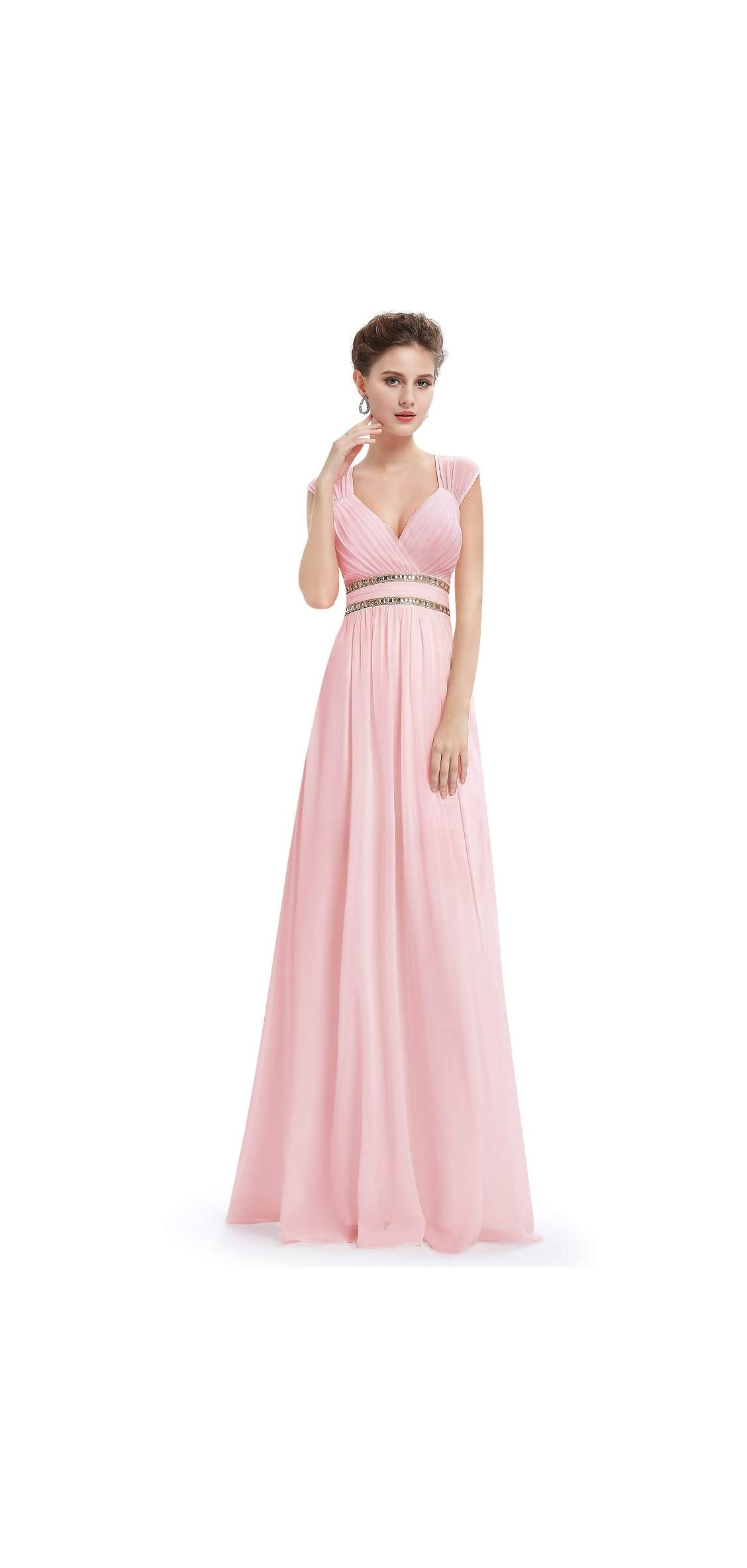 Women's Elegant V-neck Sleeveless Formal Long Dress