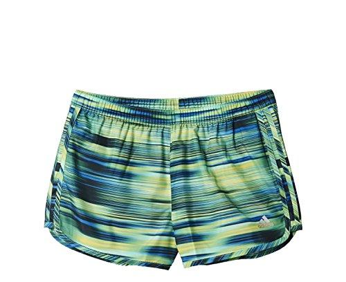Adidas short pour femme marathon graphic (bleu/jaune m aA0532