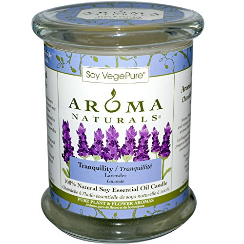 Aroma Naturals 100 Natural Soy Essential Oil Candle Tranquility Lavender 8 8 oz 260 g