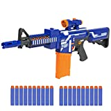 Best Choice Products Kids Soft Foam Bullet Blaster Semi Automatic Toy Gun Long Distance Range W/ 20 Darts