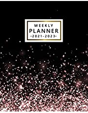 Weekly Planner 2021-2023: Beautiful Three-Year Calendar with To Do Lists, Notes, Vision Boards | Diary, Organizer, Agenda with Holidays | Faux Rose Gold Glitter