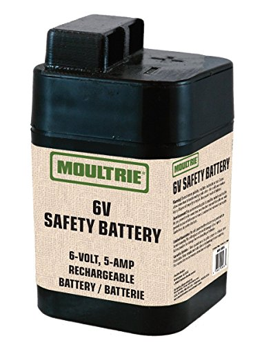 (Moultrie MFHP12406 6-Volt, 5-Amp Rechargeable Safety Battery )