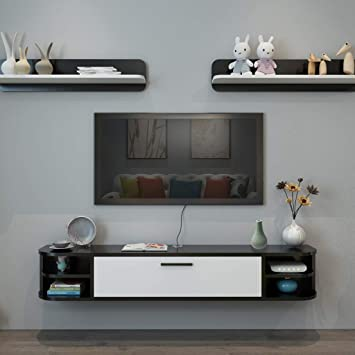 Estante de la Pared Estante Flotante Mueble TV de Pared Set Top ...
