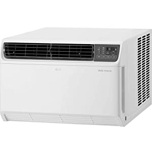 LG 18,000 BTU Dual Inverter Remote Control Window Air Conditioner, White