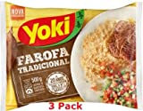 Yoki Farofa Tradicional  Seasoned Cassava Flour 17.6 ouces 3 Pack