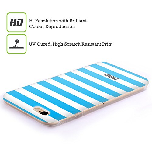 Official Cosmopolitan Sky Blue Stripes Collection Soft Gel Case for Apple iPhone 6 / 6s
