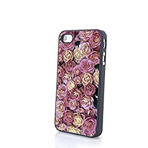 apply Flowery Cute Colorful Flowers Matte Pattern PC Phone Cases fit for Charming Beautiful For Apple Iphone 4/4S Case Cover