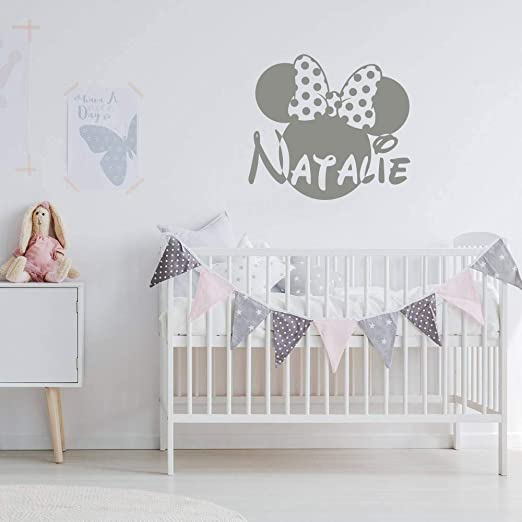 Amazon Com Minnie Mouse Decal Nursery Vinyl Decals Girls Name