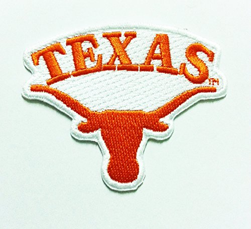 Texas Longhorns Iron on Ncaa Sport Patch Embroidered Iron on Hat Jacket Hoodie Backpack Ideal for Gift/ 7.5cm(w) X 6cm(h) …