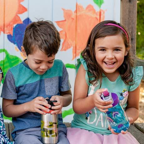 SINONIA Kids Bite Valves Fit All CamelBak Eddy Kids Water Bottle (8Pack - Sky Blue)