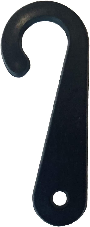 handrong 1000 Pcs Plastic J Hooks Fasteners for Socks T-Shirts Clothing Retail Display Hanger White