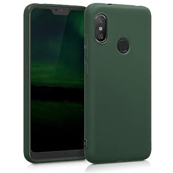 kwmobile Funda para Xiaomi Redmi 6 Pro/Mi A2 Lite - Carcasa para móvil en [TPU Silicona] - Protector [Trasero] en [Verde Oscuro Mate]