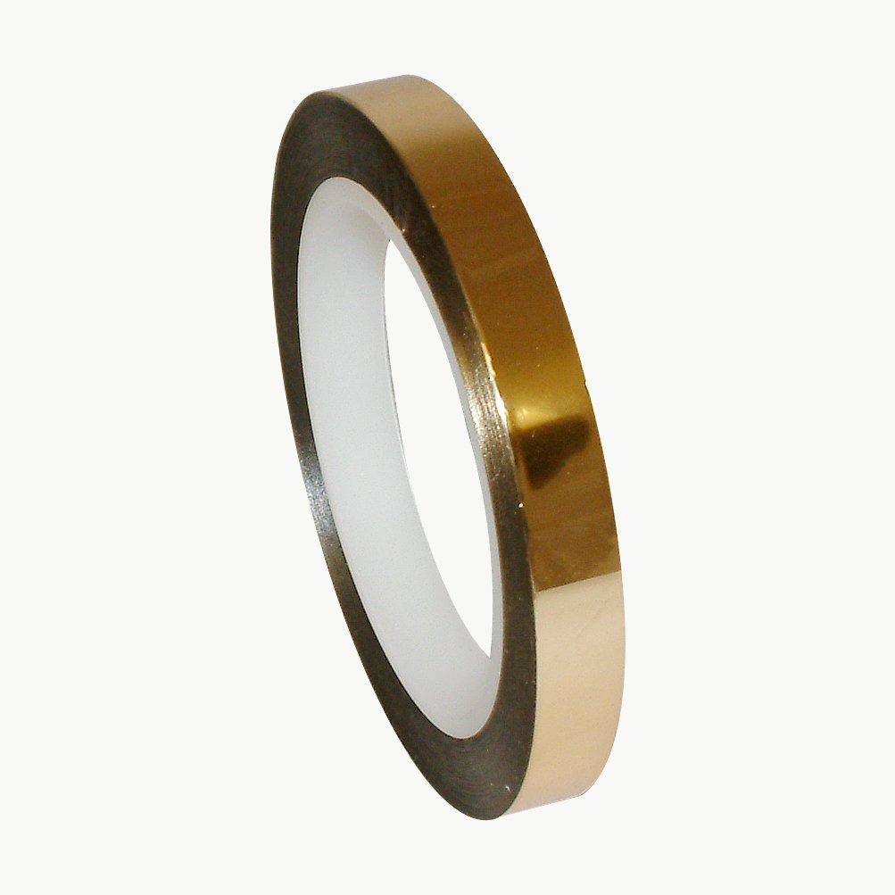 J.V. Converting MPF-01/GLD0572 JVCC MPF-01 Metalized Polyester Film Tape: 1/2'' x 72 yd, Gold