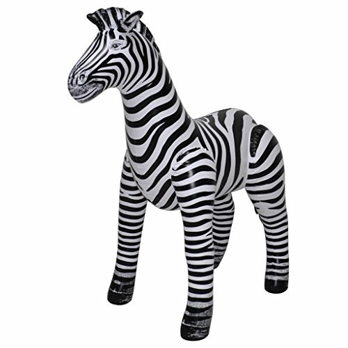 """32"""" Tall Inflatable Vinyl Zebra (Single) by Jet Creations (Image #1)"""