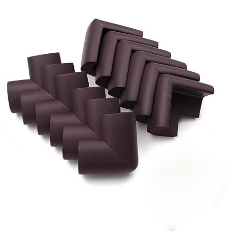 Protectores de esquina de espuma Aspire con 24 protectores con cintas, protección para muebles y