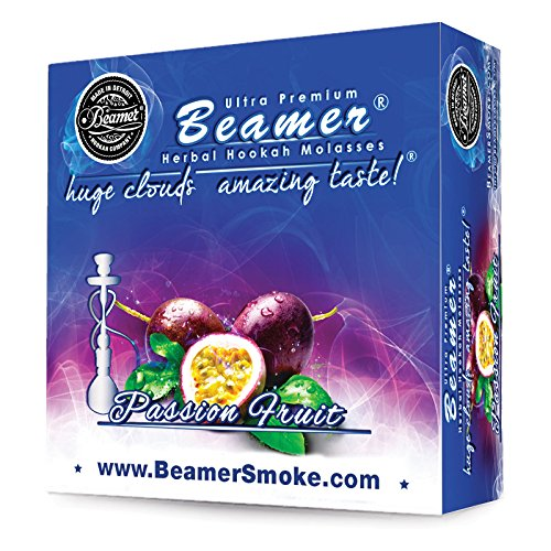 Price comparison product image Passion Fruit Beamer Herbal Hookah Shisha Molasses 50g. Huge Clouds,  Amazing Taste! Tobacco Free,  Nicotine Free. Better Taste & Clouds than tobacco. Made in USA! Use with Hookah Nargila,  charcoal