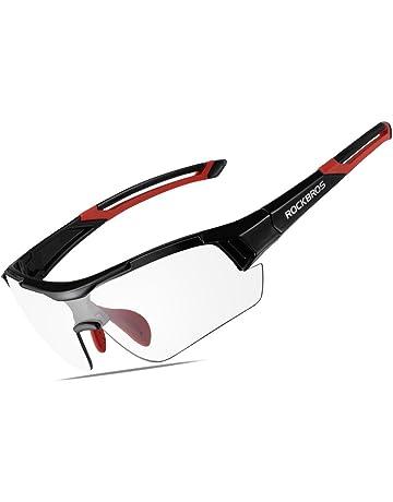 fa41da49ddc RockBros Unisex Photochromic Sunglasses UV Protection for Outdoor Sport  Cycling Black