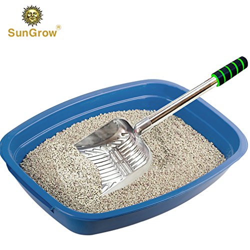(Cat Litter Scoop (1 pc) --- Lightweight, Durable Stainless Steel Poop Scooper with Comfortable 9