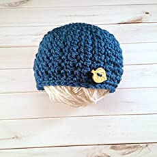 d61777bbaf5 Amazon.com  Baby Boy Blue Button Hat